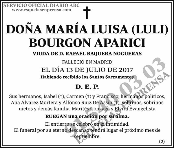 María Luisa (Luli) Bourgon Aparici